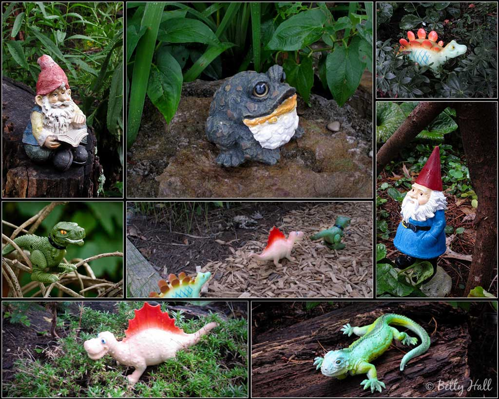some of our whimsical backyard critters