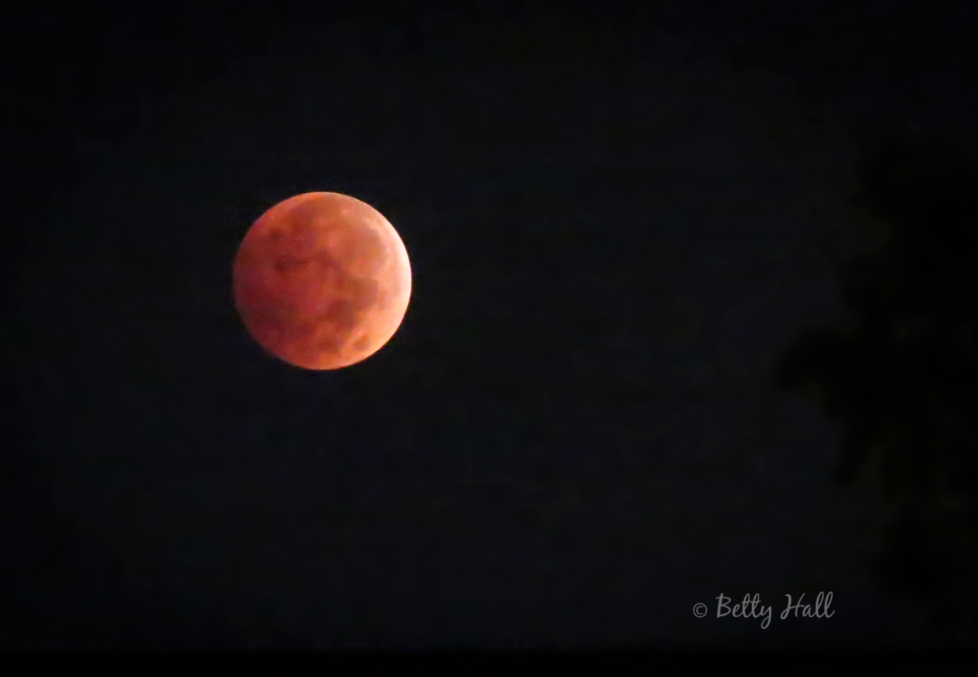 Partial eclipse of moon