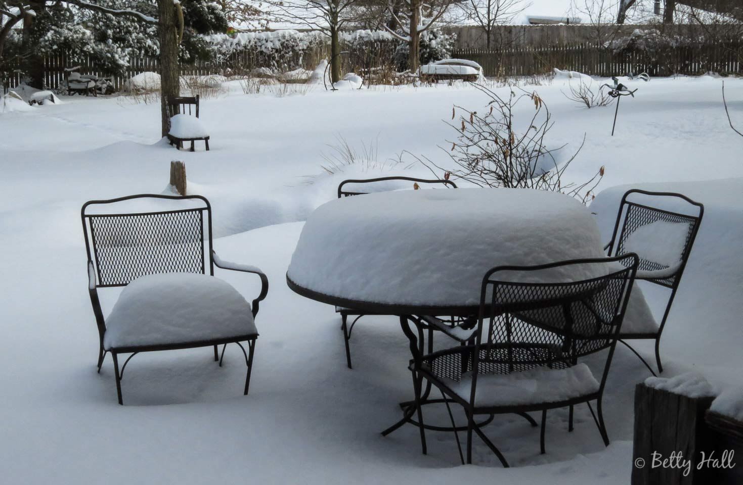 Patio and big snow